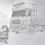 Vrachtwagens voor transport bedrijf